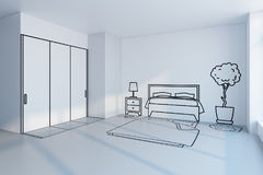 Bedroom planning design Royalty Free Stock Photos