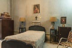 Bedroom in private villa Havana Royalty Free Stock Photos