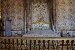 Bedroom of the queen, Chateau de Versailles, France Stock Images