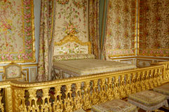 Bedroom of the queen at the Chateau de Versailles Stock Image