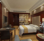 Bedroom Render Stock Photo
