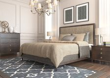 Bedroom Render Royalty Free Stock Photography