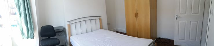 Bedroom rental. Furnished bedroom to rent in a shared house Stock Photos