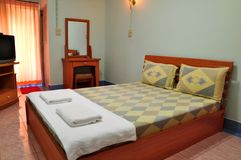 Bedroom in resort Stock Images