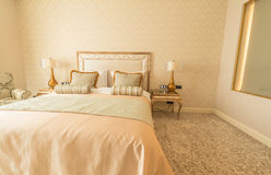 The bedroom room in modern style Royalty Free Stock Image