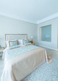 Bedroom room in modern style Royalty Free Stock Image