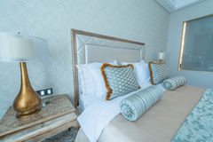 Bedroom room in modern style Stock Photos