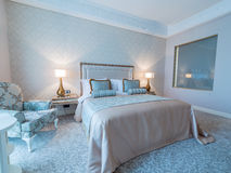 Bedroom room in modern style Stock Images