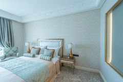 Bedroom room in modern style Stock Photography