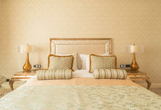 Bedroom room in modern style Royalty Free Stock Photos