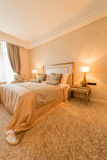 Bedroom room in modern style Stock Image