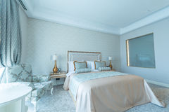 Bedroom room in modern style Royalty Free Stock Photo
