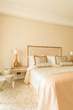 Bedroom room in modern style Royalty Free Stock Images