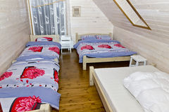 Bedroom in rural  pension hotel Stock Image