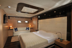 Bedroom of sailboat Royalty Free Stock Photography