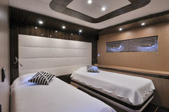 Bedroom of sailboat Stock Images