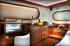 Bedroom of  sailboat Stock Image