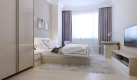 Bedroom scandinavian style Stock Images