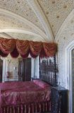 Bedroom in Sintra Pena palace Royalty Free Stock Photo