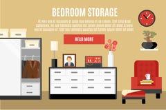 Bedroom Storage Illustration Royalty Free Stock Photography