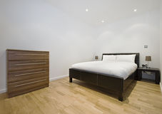 Bedroom of a studio flat Stock Photos
