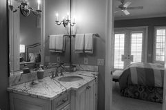 Bedroom suite in black and white Stock Image