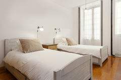 Bedroom Suite with double beds Stock Photography