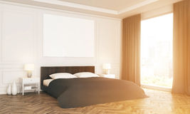 Bedroom with sunlight side Stock Image