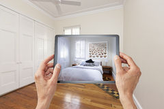Bedroom Tablet Design Technology Royalty Free Stock Photo