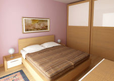 Bedroom teak Stock Image