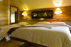 Bedroom at Thai resort style Stock Images