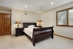 Bedroom with tray ceiling Stock Photography
