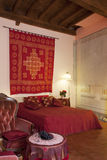 Bedroom in Tuscany style Royalty Free Stock Images