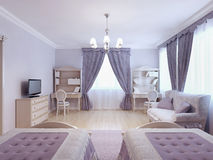Bedroom for two children Royalty Free Stock Images