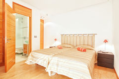 Bedroom for two people. Stock Photos