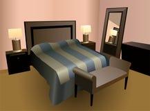 Bedroom vector. Interrior of the bedroom vector Stock Photos