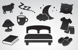 Bedroom vector icon set. Stock Images