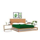 Bedroom vector illustration. Stock Photo