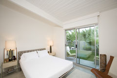 Bedroom With View Of Porch Royalty Free Stock Image