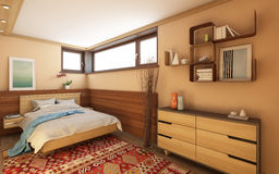 Bedroom In Village House Stock Images