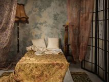 Bedroom in the vintage style Royalty Free Stock Images