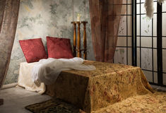 Bedroom in the vintage style. Elegant bedroom interior in the vintage style Stock Photography