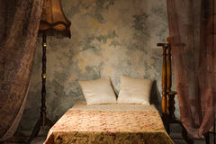 Bedroom in the vintage style. Elegant bedroom interior in the vintage style Royalty Free Stock Image