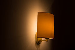 Bedroom wall lamp Stock Images