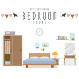 Bedroom (White Background). Vector illustration of bedroom (White Background vector illustration