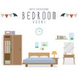 Bedroom (White Background). Vector illustration of bedroom (White Background Royalty Free Stock Images