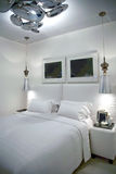 Bedroom in white colors Royalty Free Stock Photography