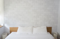 Bedroom White. White room with white couches and Royalty Free Stock Photos