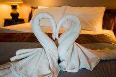 Bedroom white towel Royalty Free Stock Photos