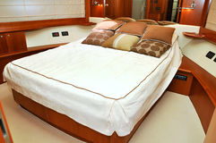Bedroom  yacht Royalty Free Stock Photography